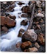 Glacial Stream Canvas Print