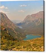 Glacier Chain Of Lakes Canvas Print