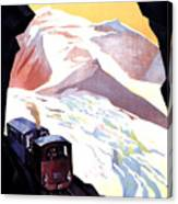 Glacier De Bionnassay, Railway, France Canvas Print