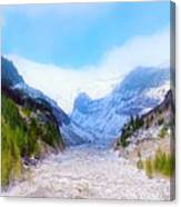A Glacier In Mt. Rainier Canvas Print