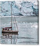 Glacier Sailing Canvas Print