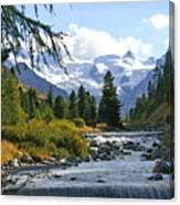 Glacier Stream Canvas Print