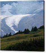 Glacier Tongue Scours The Valley Far Below Canvas Print