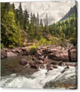 Glacier Waterfall Canvas Print