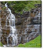 Glacier Waterfalls Canvas Print