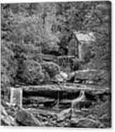 Glade Creek Grist Mill 3 Bw Canvas Print