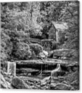 Glade Creek Grist Mill 3 - Paint 2 Bw Canvas Print