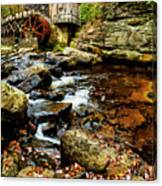 Glade Creek Grist Mill Fall  Canvas Print