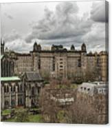 Glasgow Cathedral And Victoria Infirmary Canvas Print
