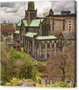 Glasgow Cathedral From The Necropolis Canvas Print