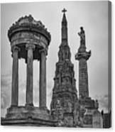 Glasgow Necropolis Graveyard Memorials Canvas Print