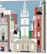 Glasgow Scotland Vertical Scene Canvas Print