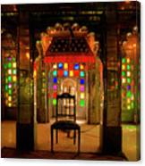 Glass And Mirror Room City Palace Udaipur Canvas Print