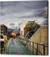 Glass Bridge To The Aquarium Canvas Print
