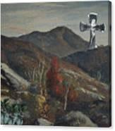 Glass Cross Canvas Print