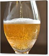 Glass Of Lager Canvas Print