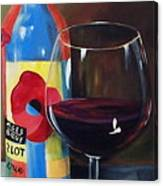 Glass Of Merlot   Canvas Print