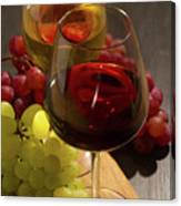 Red And White Wine Canvas Print