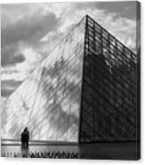 Glass Pyramid. Louvre. Paris.  Canvas Print