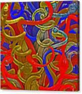 Glass Sculpture A-la Monet  Canvas Print