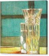 Glass Vase - Still Life Canvas Print
