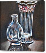 Glass Vases-still Life Canvas Print