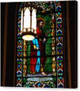 Glass Window Of Saint Philip In The Basilica In Santa Fe  Canvas Print
