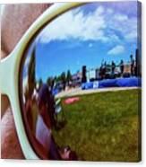 Glasses Reflect Canvas Print