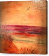 Glazed Affect Beach Scene Canvas Print