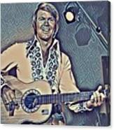 Glen Campbell Abstract Canvas Print