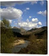 Glen Strontian And The River Strontian Sunart Western Highlands Scotland Canvas Print
