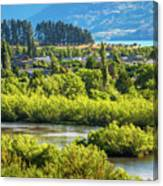 Glenorchy Lagoon At Golden Hour, New Zealand Canvas Print