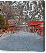 Glenwood Springs Hot Springs In Winter Canvas Print