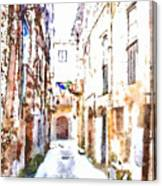 Glimpse Away With The Town Hall Canvas Print
