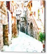 Glimpse Of Ancient Houses Canvas Print