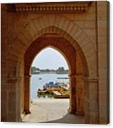Glimpse Of Gadisar Lake Canvas Print