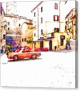 Glimpse With Cars Canvas Print