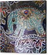 Glitter Girl Elephant Walking In My Dream  Canvas Print