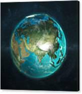 Globe Physical Asia Canvas Print
