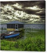 Gloomy Day By The Lake Canvas Print