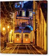 Gloria Funicular, Lisbon, Portugal Canvas Print