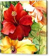Glorious Hibiscus Canvas Print