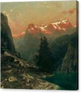 Glowing Alps Canvas Print