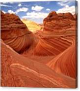 Glowing Butte At The Wave Canvas Print