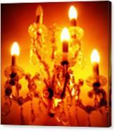 Glowing Chandelier Canvas Print
