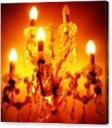 Glowing Chandelier--companion Piece Canvas Print
