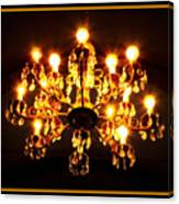 Glowing Chandelier With Border Canvas Print