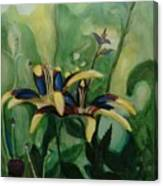 Glowing Flora Canvas Print