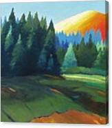 Glowing Hill Canvas Print