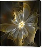 Glowing In Silver And Gold Canvas Print